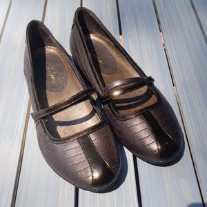 "COLE HAAN NIKE AIR ""BRIA"" MARY JANE BALLET FLATS"